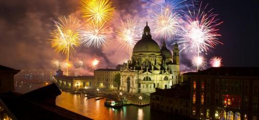 Venecija -noć vatrometa - La festa del Redentore